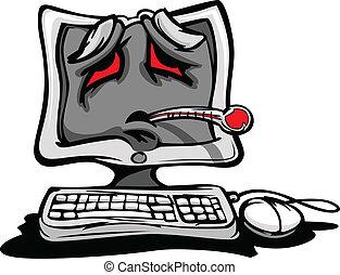 Un ordenador enfermo o roto
