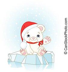 Un oso polar navideño