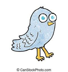 Un pájaro de dibujos animados