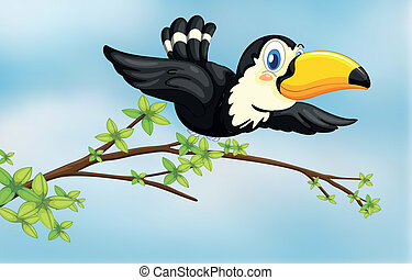 Un pájaro volador