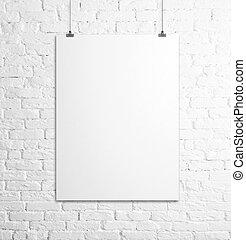Un póster blanco