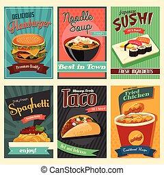 Un póster de comida