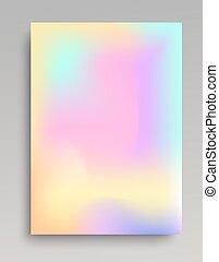 Un póster de gradiente suave