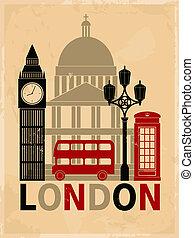 Un póster de Londres