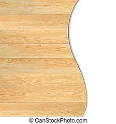 Un póster de madera