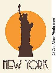 Un póster de Nueva York