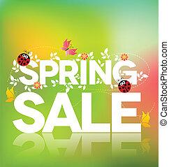 Un póster de venta de primavera
