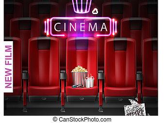 Un póster del estreno de una película realista