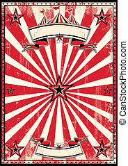 Un póster retro de circo rojo