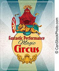 Un póster retro del circo