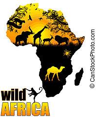 Un póster salvaje de África