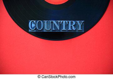 Un país de palabras de metal en vinilo