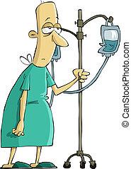 Un paciente del hospital