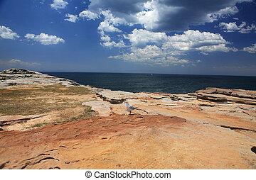 Un paisaje costal
