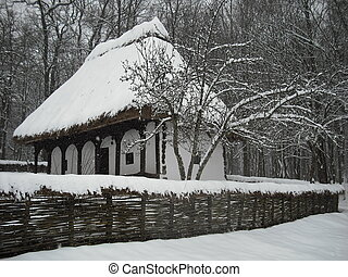 Un paisaje de invierno