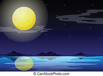 Un paisaje de luna