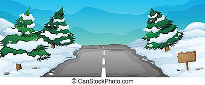 Un paisaje de nieve