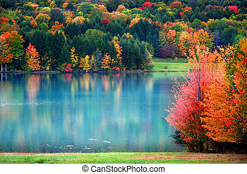 Un paisaje escénico de otoño