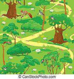Un paisaje forestal verde