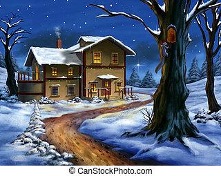 Un paisaje navideño