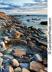 Un paisaje rocoso