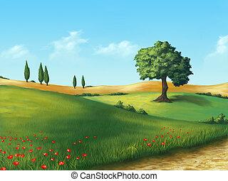 Un paisaje sereno