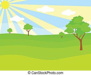 Un paisaje verde