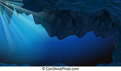 Un pantano oscuro bajo el agua
