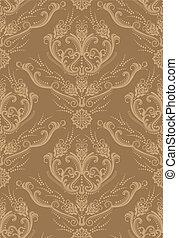 Un papel floral marrón de lujo