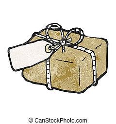 Un paquete de cartón