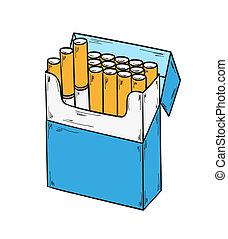 Un paquete de cigarrillos