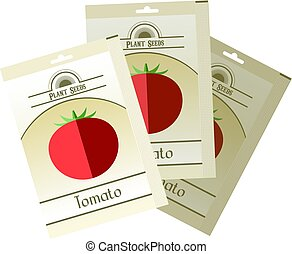Un paquete de semillas de tomate