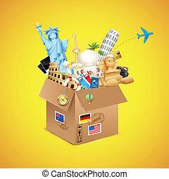 Un paquete mundial de viajes