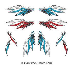 Un par de alas y plumas