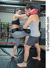 Un par de boxeo juntos
