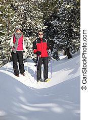 Un par de esquís por todo el país