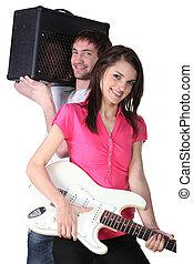 Un par de músicos