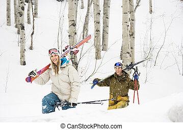 Un par de vacaciones de esquí.