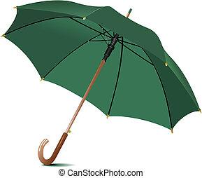 Un paraguas de lluvia abierto. Ilustración del vector