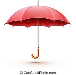 Un paraguas rojo