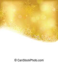 Un pasado de Navidad de oro con luces borrosas