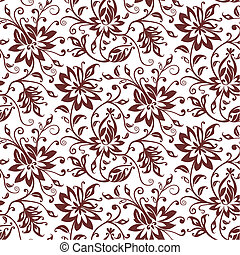 Un pasado floral de vector textil