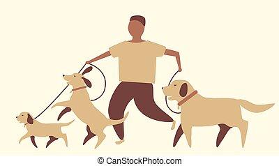 Un paseador de perros gráfico
