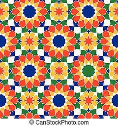Un patrón árabe tradicional Vector.