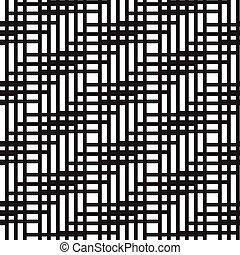 Un patrón abstracto de líneas sin costura. Ilustración de vectores