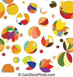 Un patrón brillante de círculos y puntos