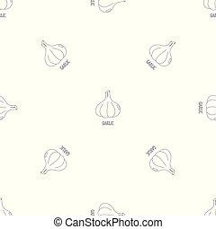 Un patrón de ajo sin vector