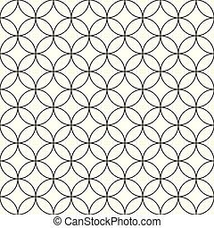 Un patrón de círculos sin vector, un simple fondo ornamental