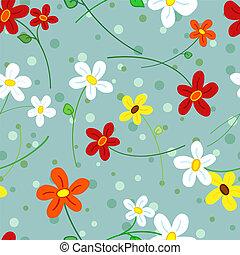 Un patrón de flores sin semen