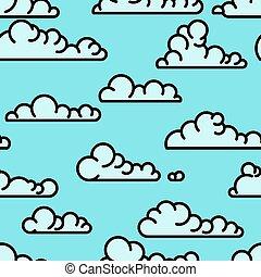 Un patrón de nubes de arte sin forma